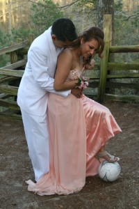 Soccer Wedding Hug